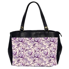 Vegetable Cabbage Purple Flower Office Handbags (2 Sides)  by Mariart
