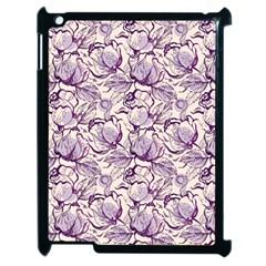 Vegetable Cabbage Purple Flower Apple Ipad 2 Case (black)