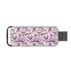 Vegetable Cabbage Purple Flower Portable Usb Flash (two Sides) by Mariart