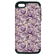 Vegetable Cabbage Purple Flower Apple Iphone 5 Hardshell Case (pc+silicone) by Mariart