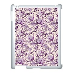 Vegetable Cabbage Purple Flower Apple Ipad 3/4 Case (white) by Mariart