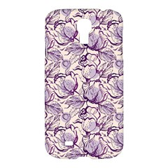 Vegetable Cabbage Purple Flower Samsung Galaxy S4 I9500/i9505 Hardshell Case by Mariart