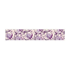 Vegetable Cabbage Purple Flower Flano Scarf (mini) by Mariart