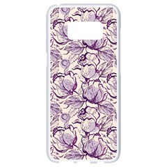 Vegetable Cabbage Purple Flower Samsung Galaxy S8 White Seamless Case by Mariart