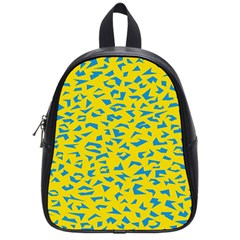 Blue Yellow Space Galaxy School Bag (small) by Mariart