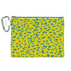 Blue Yellow Space Galaxy Canvas Cosmetic Bag (xl) by Mariart