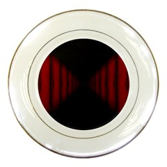 Black Red Door Porcelain Plates by Mariart