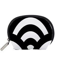 Circle White Black Accessory Pouches (small)  by Mariart