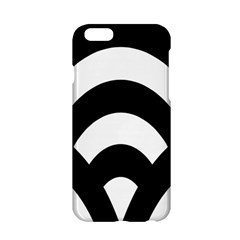 Circle White Black Apple Iphone 6/6s Hardshell Case by Mariart