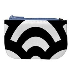 Circle White Black Large Coin Purse by Mariart