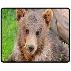 Baby Bear Animals Double Sided Fleece Blanket (medium)  by Mariart
