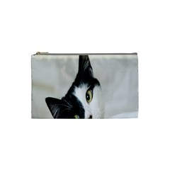 Cat Face Cute Black White Animals Cosmetic Bag (small)  by Mariart
