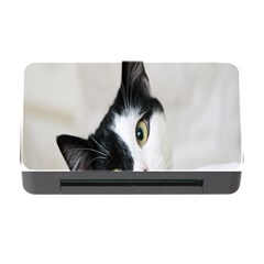 Cat Face Cute Black White Animals Memory Card Reader With Cf by Mariart