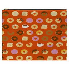 Coffee Donut Cakes Cosmetic Bag (xxxl)  by Mariart