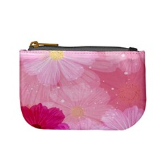 Cosmos Flower Floral Sunflower Star Pink Frame Mini Coin Purses by Mariart
