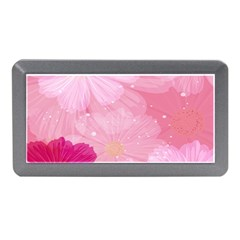 Cosmos Flower Floral Sunflower Star Pink Frame Memory Card Reader (mini) by Mariart
