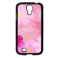 Cosmos Flower Floral Sunflower Star Pink Frame Samsung Galaxy S4 I9500/ I9505 Case (black) by Mariart