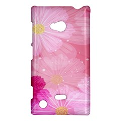Cosmos Flower Floral Sunflower Star Pink Frame Nokia Lumia 720 by Mariart