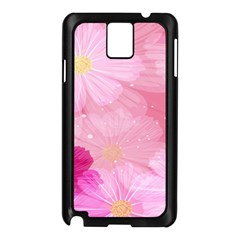 Cosmos Flower Floral Sunflower Star Pink Frame Samsung Galaxy Note 3 N9005 Case (black) by Mariart