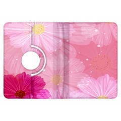 Cosmos Flower Floral Sunflower Star Pink Frame Kindle Fire Hdx Flip 360 Case by Mariart