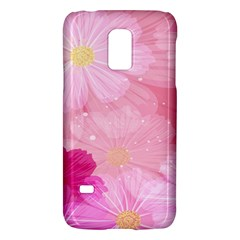Cosmos Flower Floral Sunflower Star Pink Frame Galaxy S5 Mini by Mariart