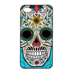 Sugar Skull New 2015 Apple Iphone 4/4s Seamless Case (black) by crcustomgifts