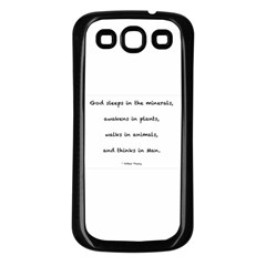 Inspirational Quote (arthur Young) Samsung Galaxy S3 Back Case (black) by DeneWestUK