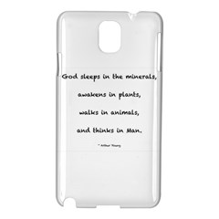 Inspirational Quote (arthur Young) Samsung Galaxy Note 3 N9005 Hardshell Case by DeneWestUK