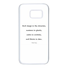 Inspirational Quote (arthur Young) Samsung Galaxy S7 White Seamless Case by DeneWestUK