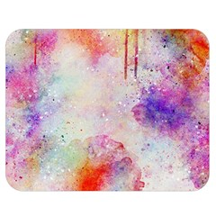 Watercolor Galaxy Purple Pattern Double Sided Flano Blanket (medium)  by paulaoliveiradesign
