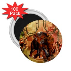 Steampunk, Steampunk Elephant With Clocks And Gears 2 25  Magnets (100 Pack)  by FantasyWorld7