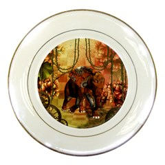 Steampunk, Steampunk Elephant With Clocks And Gears Porcelain Plates by FantasyWorld7