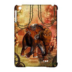 Steampunk, Steampunk Elephant With Clocks And Gears Apple Ipad Mini Hardshell Case (compatible With Smart Cover) by FantasyWorld7