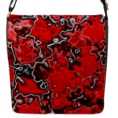 Wet Plastic, Red Flap Messenger Bag (s) by MoreColorsinLife