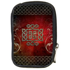 The Celtic Knot With Floral Elements Compact Camera Cases by FantasyWorld7