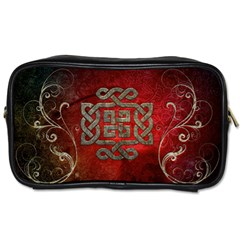 The Celtic Knot With Floral Elements Toiletries Bags 2 Side by FantasyWorld7