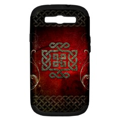 The Celtic Knot With Floral Elements Samsung Galaxy S Iii Hardshell Case (pc+silicone) by FantasyWorld7
