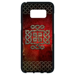 The Celtic Knot With Floral Elements Samsung Galaxy S8 Black Seamless Case by FantasyWorld7