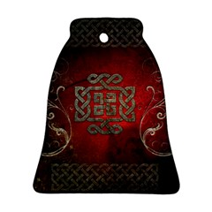 The Celtic Knot With Floral Elements Bell Ornament (two Sides) by FantasyWorld7