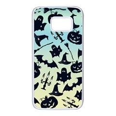 Spooky Halloween Samsung Galaxy S7 White Seamless Case by allgirls