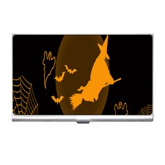 Day Hallowiin Ghost Bat Cobwebs Full Moon Spider Business Card Holders by Mariart