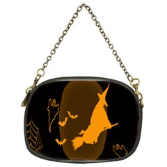 Day Hallowiin Ghost Bat Cobwebs Full Moon Spider Chain Purses (two Sides)  by Mariart