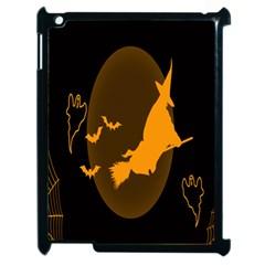 Day Hallowiin Ghost Bat Cobwebs Full Moon Spider Apple Ipad 2 Case (black)