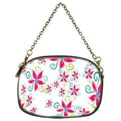 Flower Beauty Sexy Rainbow Sunflower Pink Green Blue Chain Purses (two Sides)  by Mariart