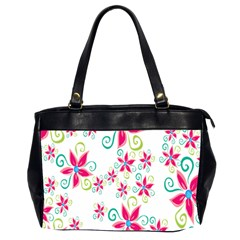Flower Beauty Sexy Rainbow Sunflower Pink Green Blue Office Handbags (2 Sides)  by Mariart
