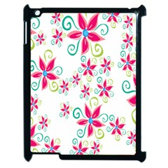 Flower Beauty Sexy Rainbow Sunflower Pink Green Blue Apple Ipad 2 Case (black) by Mariart