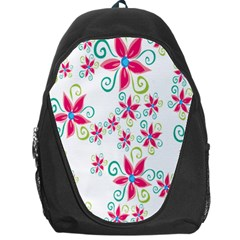 Flower Beauty Sexy Rainbow Sunflower Pink Green Blue Backpack Bag by Mariart