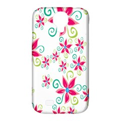 Flower Beauty Sexy Rainbow Sunflower Pink Green Blue Samsung Galaxy S4 Classic Hardshell Case (pc+silicone) by Mariart