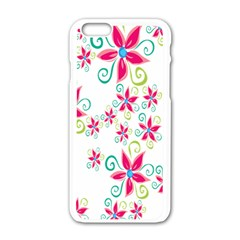 Flower Beauty Sexy Rainbow Sunflower Pink Green Blue Apple Iphone 6/6s White Enamel Case by Mariart