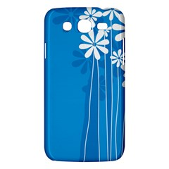 Flower Blue Samsung Galaxy Mega 5 8 I9152 Hardshell Case  by Mariart